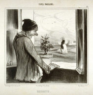 REGRETS, no. 45 from the series TYPES PARISIENS, published in Le Charivari 15 January 1842