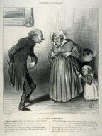 En fait-on aveler à ce pauvre public!!! no. 2 of the series L'annonce et la réclame published in La Caricature 9 June 1839