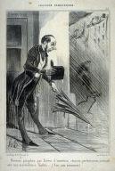 Nouveau parapluie par Brêvet d'invention, ressorts perfectionnés, s'ouvrant avec une merveilleuse facilité no. 33 of the series Emotions Parisiennes