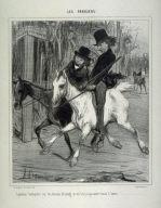 Équitation boutiquière sur des chevaux de louage, et où il n'y a pas autre chose à louer no. 1 from the series Les Parisiens