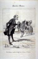 Il ne faut pas mettre le doigt entre le bois et l'écorce no. 10 from the series Proverbes et maximes published in Le Charivari, 26 July 1840