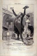 Salut! terre de l'hospitalité... no. 1 of the second series Robert Macaire published in Le Charivari 25 October 1840