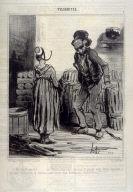 Ah! fouchtrrra!.... ma femme nous nous chomes-ti amugé nous étions dige-huit, il gni avait ni hommes ni femmes, nous étions tous Auvergniats fouchtrrrrrrra!!!!!........ no. 5 from the series Vulgarités publiushed in Le Charivari, 11 July 1841