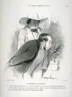 UN TRIOMPHE DE BOTANISTE, No. 26 fom the series LES BEAUX JOURS DE LA VIE, published in Le Charivari 20 October 1844