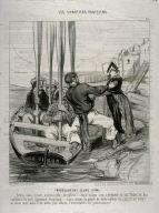 Embarquement d'une dame no.15 from the series Les canotiers parisiens (the boatmen of Paris) published in Le Charivari 26 Jun 1843