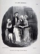Au nouvel an, visite obligée à la tante Rabourdin no. 46 from the series Les bons bourgeois