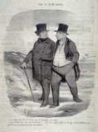 Les temps sont durs, et il faut vivre de privations, cette année!..... no. 2 from the series Tout ce qu'on voudra published in Le Charivari 17 April 1847