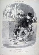 Une visite au salon. no.1 from the seies Tout ce qu'on voudra published in Le Charivari 28 March 1847