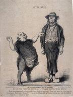 Le remboursement des 45 centimes nouveau tour financier inventé par le célèbre prestigidateur Berryer... no. 90 of the series Actualités published in Le Charivari 19 March 1851