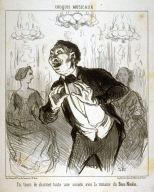 En train de charmer toute une société avec la romance du Beau Nicolas. no. 18 of the series Croquis Musicaux