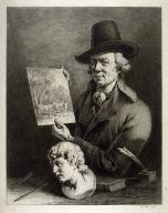 Self-Portrait, 1796 Boissieu holds in his hands a landscape painting