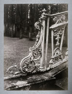 Detail of elaborate iron grillwork