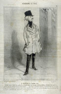 LE CHEVALIER DE LÉPERON DOR, no. 24 from the series BOH?MIENS DE PARIS, published in Le Charivari 27 February 1842