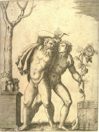 A Young and an Old Bacchant, after Raphael or Giulio Romano