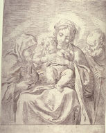 The Holy Family with St. Claire, after Annibale Carracci
