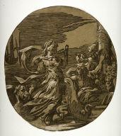 Circe, after Ugo da Carpi's chiaroscuro woodcut print after Parmigianino