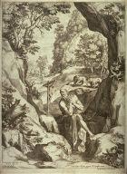 St. Jerome in a large landscape