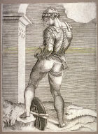 SoldierAttaching His Breeches to his Breastplate, after a drawing by Michelangelo