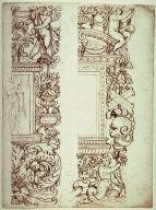 Recto: Ornamental Designs Verso: Ornamental Designs