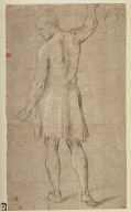 Recto:Figure of a ManVerso: Studies of Seated Male Figure and a Foot