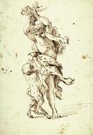 Recto:Bacchanalian Figures Verso:Figure Studies