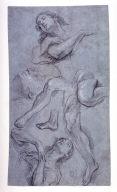 Recto:Sheet of Figure Studies Verso: Lower Half of Nude Male Figure
