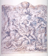 Recto:Death of AbelVerso: Study for a Curtain