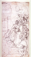 Recto:Madonna with Saints Verso: Architectural Details