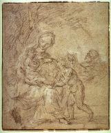 Recto:Holy Family Verso: Holy Family