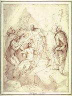 Recto: Christ in LimboVerso:Figure Studies