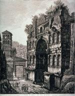 Veduta di fianco dell'Arco di Giano (View of the side of the Arch of Janus)
