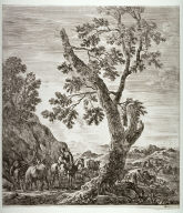 A Peasant Woman on Horseback, from the series Six Large Views of Rome and the Countryside