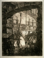 The Grand Piazza, plate IV, from the series Carceri