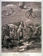 The Triumph of Galatea, after the fresco in the Villa Farnesina, Rome, from the book Schola Italica Picturae