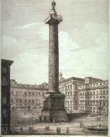 Veduta della Colonna Antinina, o sia Piazza Colonna (View of the Antonine Column in the Piazza Colonna)