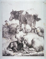 Plate 14 from a set of etchings of Animals and Peasants