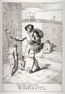 The peddler of Housewares, plate 40 from the series Le Arti che vanno per via nella citta di Venezia