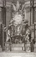The Catedra Petri of Bernini (The throne of Peter by Bernini), plate 12 from the series Disegni di vari altari e cappelle nelle Chiese di Roma con le loro facciate, fianche, piante e misure (Drawings of altars and chapels in the churches of Rome with their façades, sides, plans and sizes)