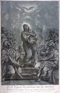 Le S. Esprit descendant sur les apôtres (The Holy Spirit Descending on the Apostles), after a drawing by Giovanni Battista Lenardi in the collection of M. Crozat