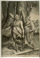 Tobias and the Angel, after the drawing by Raffaellino da Reggio now in the Uffizi