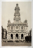#18 Le Trinite (church) from 11 albumen prints from Vues de Paris en Photographie, 1858