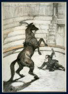 Au cirque: Cheval pointant