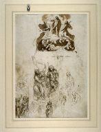 Recto: Studies of the Transfiguration and Saint John the Baptist Verso: Horsemen in Combat