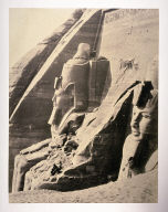 Facade of the Temple of Simbel: From the West