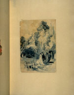 Recto:Study for the etching, Promenade galante (Lovers Lane), third etching in the book, Sonnets et eaux-fortes (Sonnets and Etchings) (Paris: Alphonse Lemerre, 1869)Verso: Another study for Promenade galante
