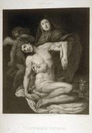 Jesucristo Difunto En Brazos De Su Sanit Mary...(Christ dead in the arms of his mother)... second plate in thebook...El Real Museo de Madrid y las joyas de la pintura en Espana ([Madrid]: Juan José Martinez, [1857])