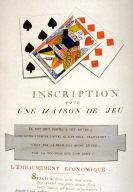 Inscription pour un maison de jeu, page 198 of the book, Mon passe-tems dédié à moi-même , vol.2
