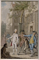 Het Land der Hinkenden (Sketch for engraving by Noah van der Meer the Younger for Dutch translation of Gellert's fables 1772/4)