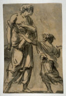 Study of Two Draped Figures