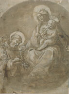 Madonna and Child with Saint